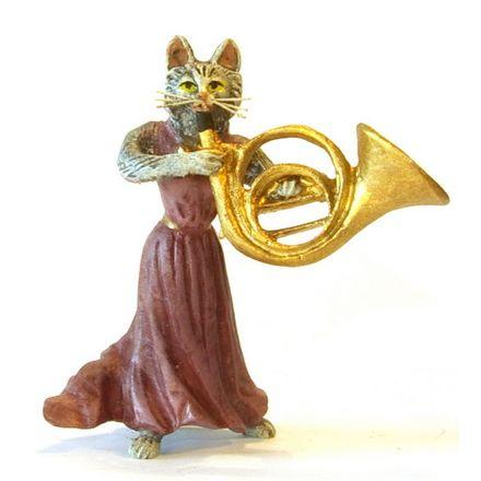 Katzendame Horn