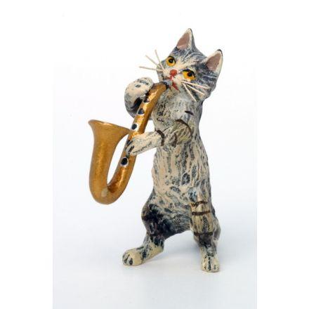 Katze Saxophon