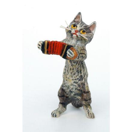 Katze Akkordeon