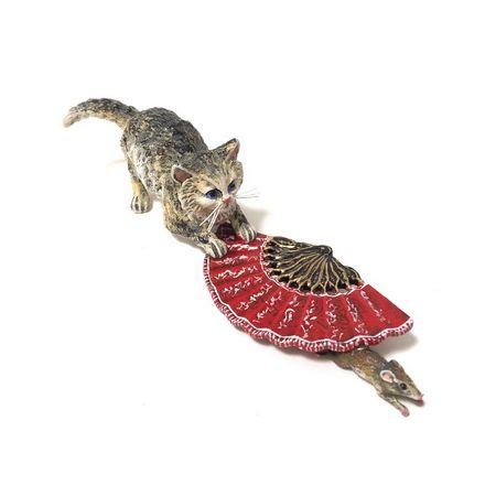 Katze/Fächer/Maus