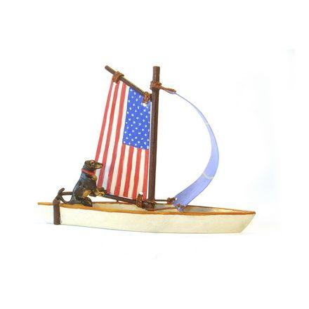 Dackel im Segelboot