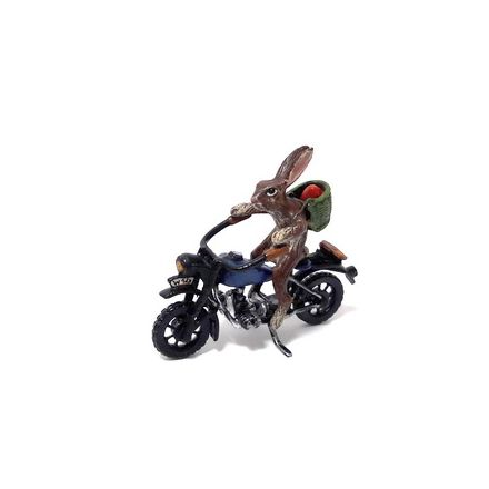 Hase Motorrad mit Korb / Osterei