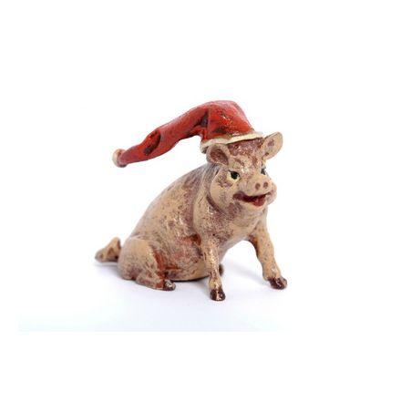 Schwein Weihnachtsmütze