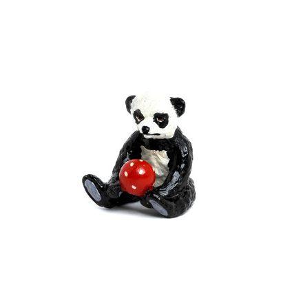 Panda -Teddy mit Ball