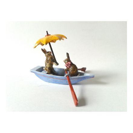 Hasen im Boot / Schirm