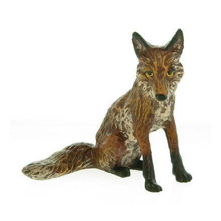 Fuchs sitzend, kl.