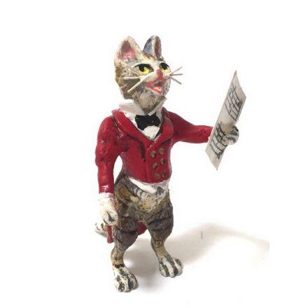 Katze Sänger im roten Frack