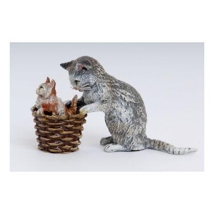 Katzenmutter Korb/Baby