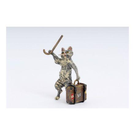 Katze Reisender