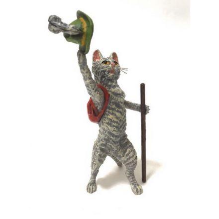 Katze mit Rucksack / Tirolerhut