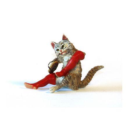 Katze Stiefelputzer/größer