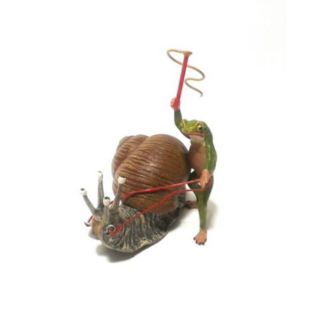 Frosch Schneckenpost/groß