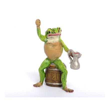 Frosch auf Faß/Bierkrug