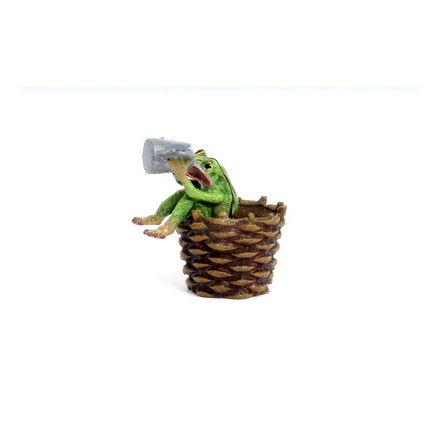 Frosch im Korb/Bierkrug