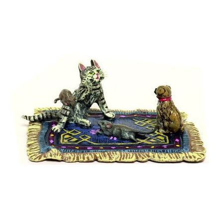 Katze Teppich Mops/Maus