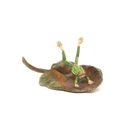 Frosch Handstand/Lilienblatt