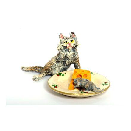 Katze Käseteller/Maus