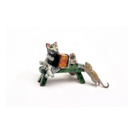 Katze Akkordeon Bank/Mäuse