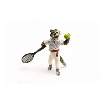 Katze Tennisspieler