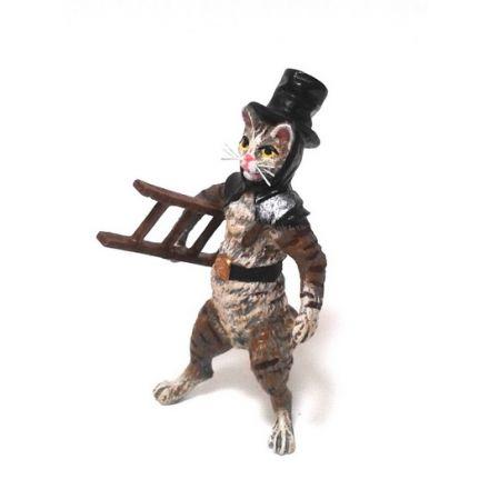 Katze Rauchfangkehrer/Leiter
