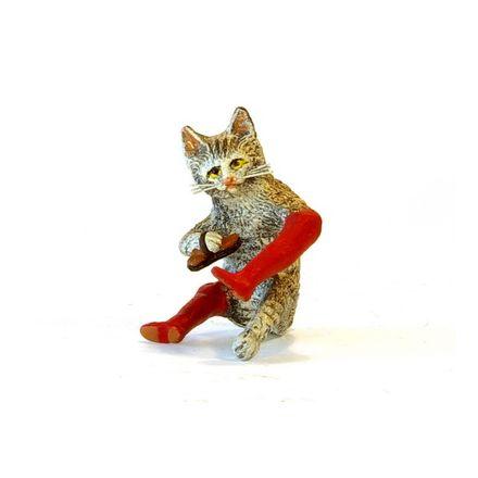 Katze Stiefelputzer klein