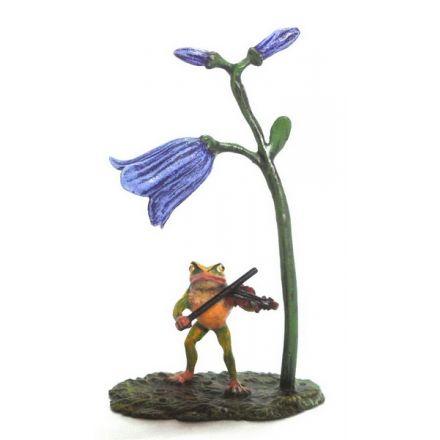 Frosch Violine/Glockenblume