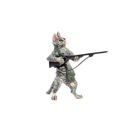 Katze Jäger/Gewehr