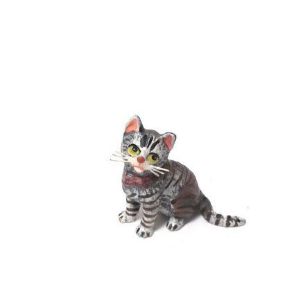 Katze Masche/seitl.sitzend