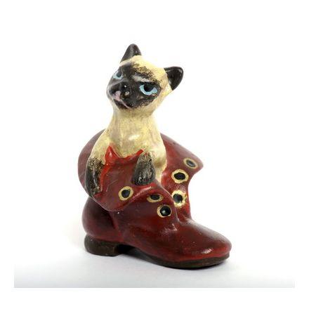 Katze Siam im Schuh