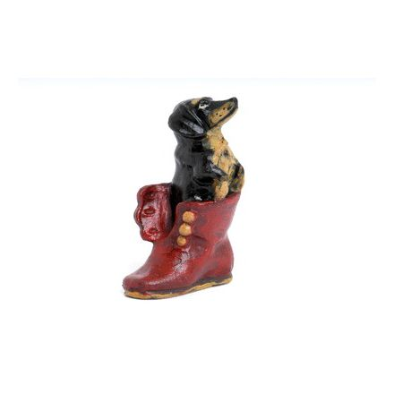 Dackel im Schuh